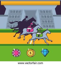 casino game horse race with chips