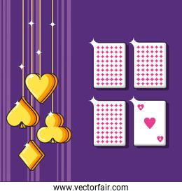 casino game poker cards icons