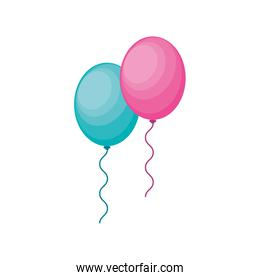 party balloons air floating vector design
