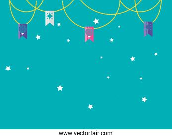 garlands party hanging icon vector ilustration