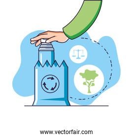 Factory and sustainability design vector ilustration