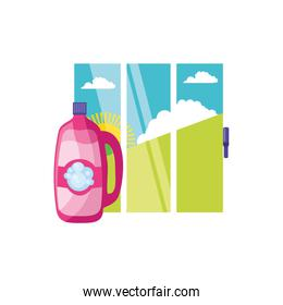 Isolated cleaning detergent design icon vector ilustration