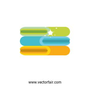 Isolated cotton towel design icon vector ilustration