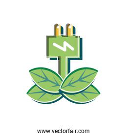 Plug and sustainability design vector ilustration