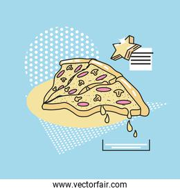 90s style pizza design vector ilustration