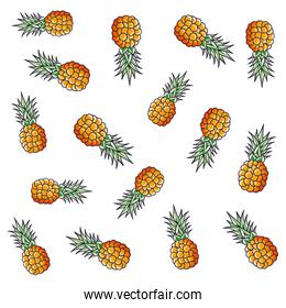 pattern of pineapples fruits