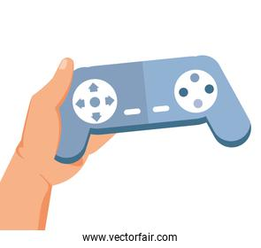 hand user with video game control retro