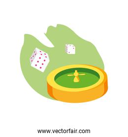 casino roulette game with dices