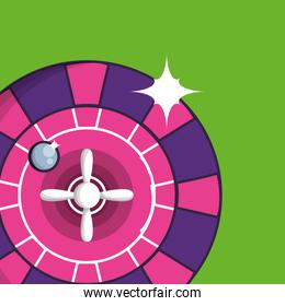 casino roulette game isolated icon