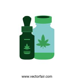 cannabis bottle product dropper icon