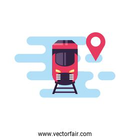 train travel vehicle with pin location