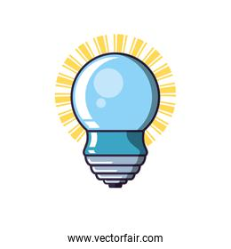 saving bulb electric isolated icon
