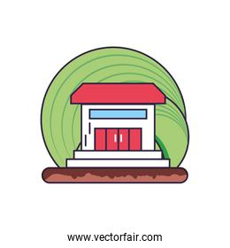 house facade building isolated icon