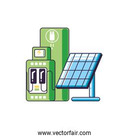 solar panel with station service energy electric