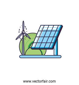 solar panel energy with windmill air power