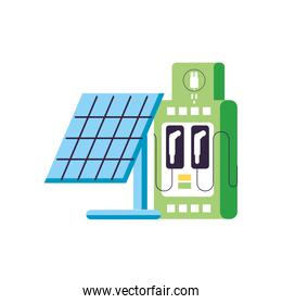 solar panel with station service energy electric isolated icon