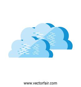 cloud computing technology isolated icon