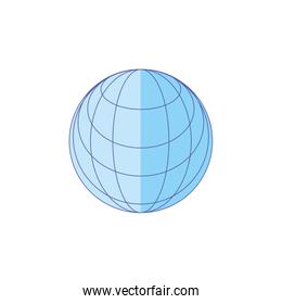 sphere browser technology isolated icon