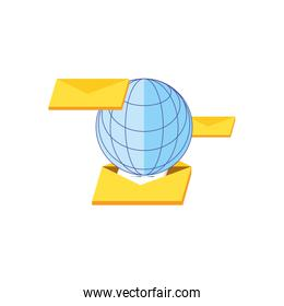 envelopes mail with sphere browser technology