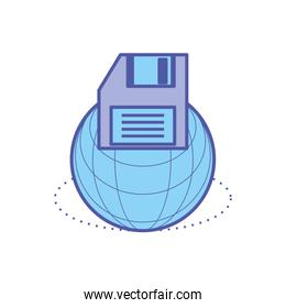 sphere browser technology with floppy disk