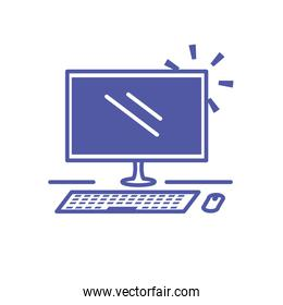desktop computer device isolated icon