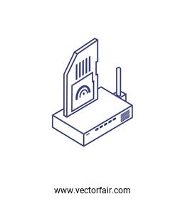 router communication with sd card
