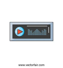 audio player display with sound graohic