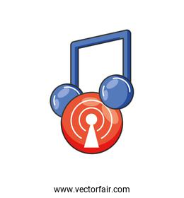 music note sound isolated icon