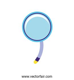 search magnifying glass icon illustration