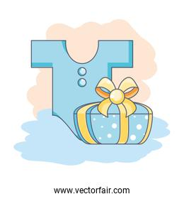 cute clothes for baby with gift box present
