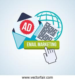 email marketing lettering and items