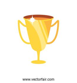 golden trophy cup award  bright
