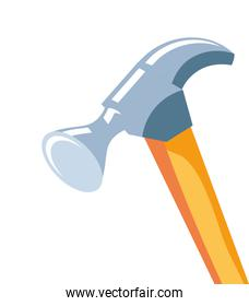 hammer tool handle isolated icon