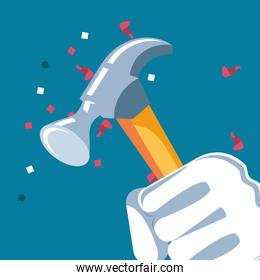 hand fist power with hammer tool
