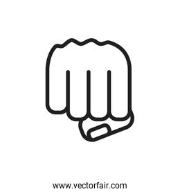 hand fist power isolated icon