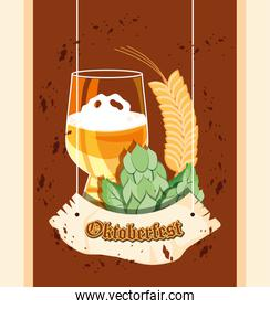 oktoberfest celebration day with beer glass