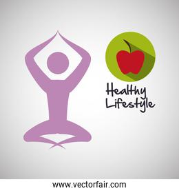 Healthy lifestyle  design. bodycare icon. Isolated illustration