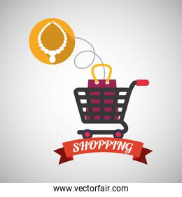 Shopping design. Sales and Retail icon. Isolated illustration , vector