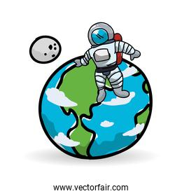 Space design. science icon. Isolated illustration , vector