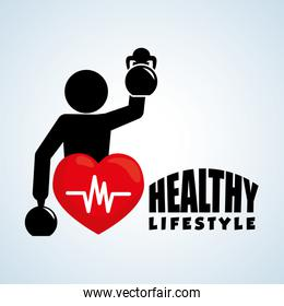 Healthy lifestyle design. Bodycare icon. Isolated illustration, vector graphic