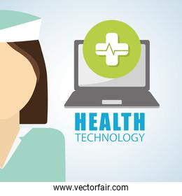 Health care design. technology icon. isolated illustration, vect