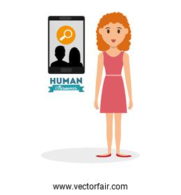 Human resources design. Person icon. Isolated illustration