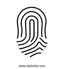 finger print icon , vector