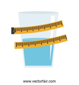 isolated water design. Healthy lifestyle concept , vector graphi