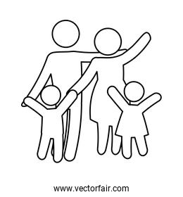 family concept. Pictogram icon.flat and isolated design