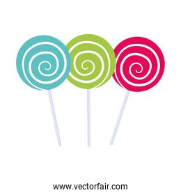 Sugar food design. candy icon. sweet illustration. vector graphi