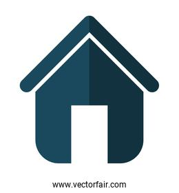 Family House. Home icon with door, isolated graphic design