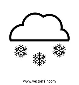 Snow cloud. isolated snowflake icon. vector graphic
