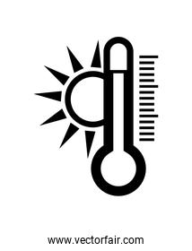 Weather instrument design. isolated thermometer icon. vector gra