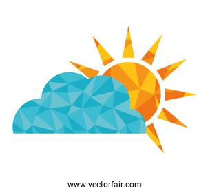 Sun design. isolated weather icon. vector graphic